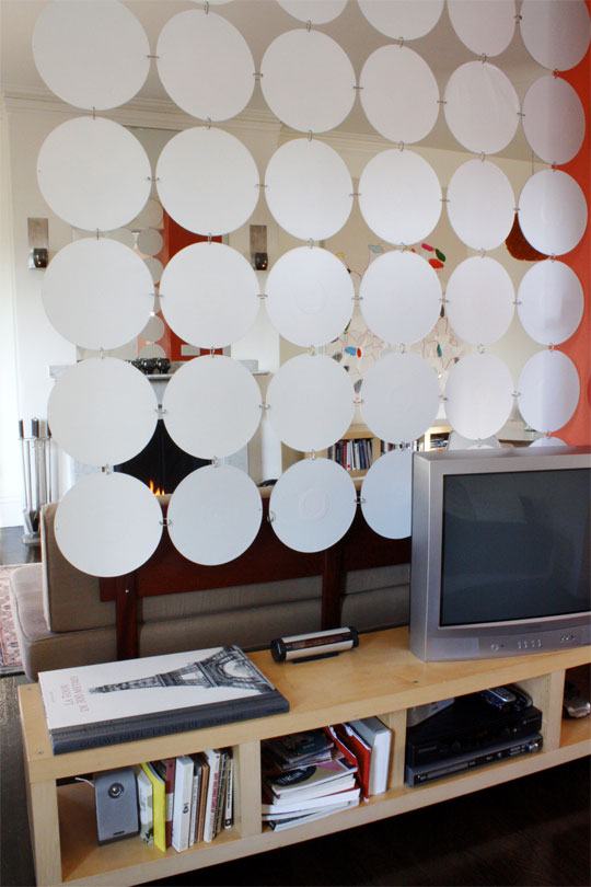 Hanging Records On Wall 10 original ideas for room dividers